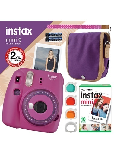 Fujifilm İnstax Mini 9 Mor Fotoğraf Makinesi Ve Hediye Seti 7 Mor